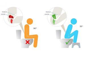 Position toilette escabeau