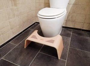 marche pied toilette bois